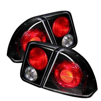 Spyder - Honda Civic 4DR Spyder Euro Style Taillights - Black - 111-HC01-4D-BK