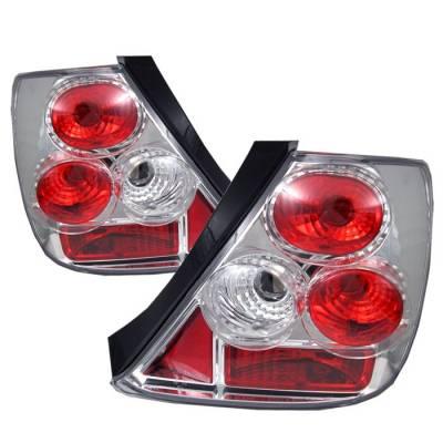 Spyder - Honda Civic HB Spyder Euro Style Taillights - Chrome - 111-HC03-3D-C