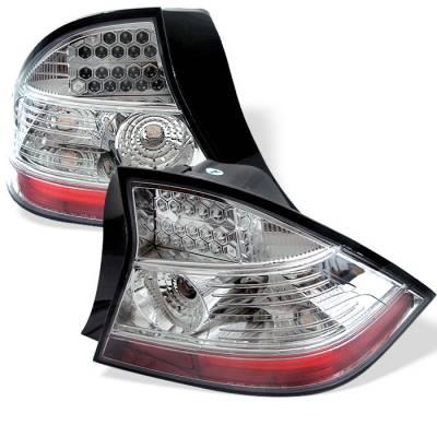 Spyder - Honda Civic 2DR Spyder LED Taillights - Chrome - 111-HC04-2D-LED-C
