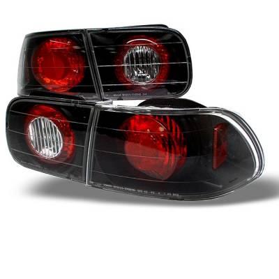 Spyder - Honda Civic 2DR & 4DR Spyder Euro Style Taillights - Black - 111-HC92-24D-BK
