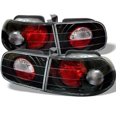 Spyder - Honda Civic HB Spyder Euro Style Taillights - Black - 111-HC92-3D-BK