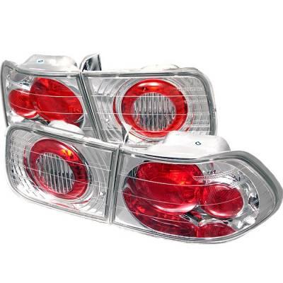 Spyder - Honda Civic 2DR Spyder Euro Style Taillights - Chrome - 111-HC96-2D-C