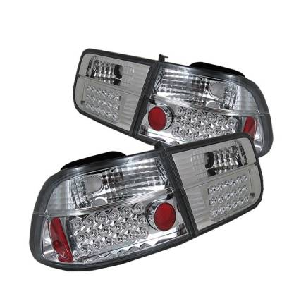Spyder - Honda Civic 2DR Spyder LED Taillights - Chrome - 111-HC96-2D-LED-C