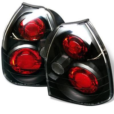 Spyder - Honda Civic HB Spyder Euro Style Taillights - Black - 111-HC96-3D-BK
