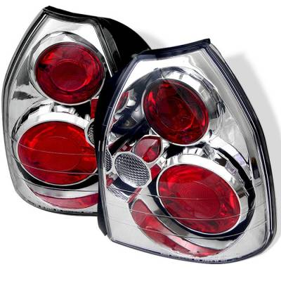 Spyder - Honda Civic HB Spyder Euro Style Taillights - Chrome - 111-HC96-3D-C