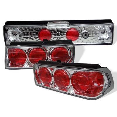 Spyder - Honda CRX Spyder Euro Style Taillights - Chrome - 111-HCRX88-C