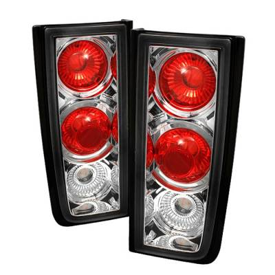 Spyder - Hummer H2 Spyder Euro Style Taillights - Chrome - 111-HH2-C