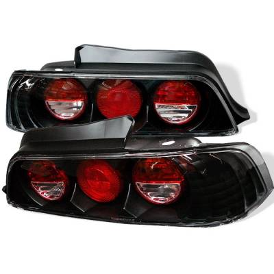 Spyder - Honda Prelude Spyder Euro Style Taillights - Black - 111-HP97-BK