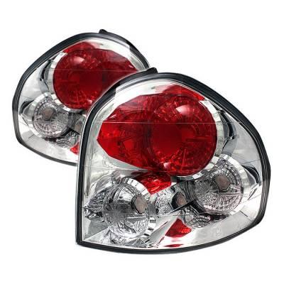 Spyder - Hyundai Santa Fe Spyder Euro Style Taillights - Chrome - 111-HYSF01-C