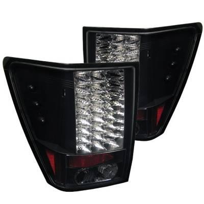 Spyder - Jeep Grand Cherokee Spyder LED Taillights - Black - 111-JGC05-LED-BK