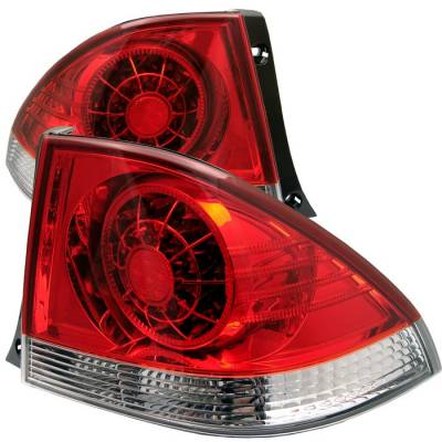 Spyder - Lexus IS Spyder LED Taillights - Red Clear - 111-LIS300-LED-RC