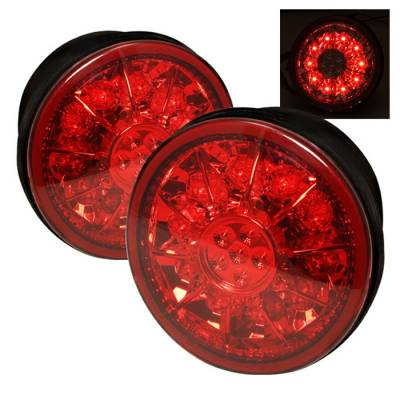 Spyder - Lexus IS Spyder LED Trunk Taillights - Red Clear - 111-LIS300-TR-LED-RC