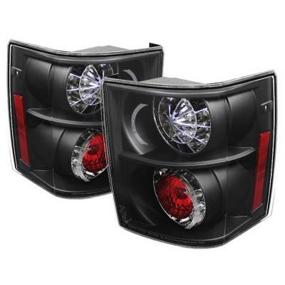 Spyder - Land Rover Range Rover Spyder LED Taillights - Black - 111-LRRRH03-LED-BK