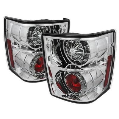 Spyder - Land Rover Range Rover Spyder LED Taillights - Chrome - 111-LRRRH03-LED-C