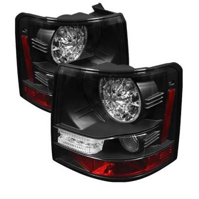 Spyder - Land Rover Range Rover Spyder LED Taillights - Black - 111-LRRRS06-LED-BK
