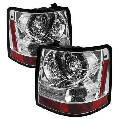 Spyder - Land Rover Range Rover Spyder LED Taillights - Chrome - 111-LRRRS06-LED-C