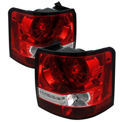 Spyder - Land Rover Range Rover Spyder LED Taillights - Red Clear - 111-LRRRS06-LED-RC