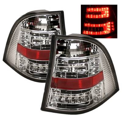 Spyder - Mercedes-Benz ML Spyder LED Taillights - Chrome - 111-MBW16398-LED-C
