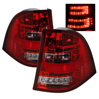 Spyder - Mercedes-Benz ML Spyder LED Taillights - Red Clear - 111-MBW16398-LED-RC