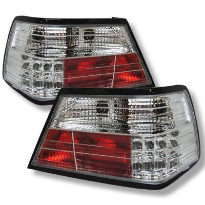 Spyder. - Mercedes-Benz E Class Spyder LED Taillights - Chrome - 111-MBZE86-LED-C