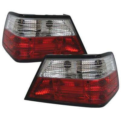 Spyder. - Mercedes-Benz E Class Spyder Crystal Taillights - Red Clear - 111-MBZE86-RC