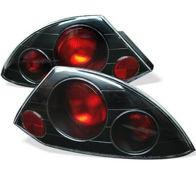 Spyder - Mitsubishi Eclipse Spyder Euro Style Taillights - Black - 111-ME00-BK