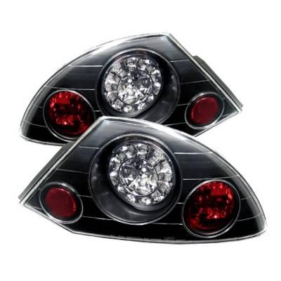 Spyder - Mitsubishi Eclipse Spyder LED Taillights - Black - 111-ME00-LED-BK