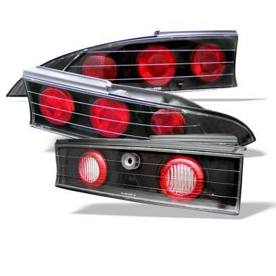 Spyder - Mitsubishi Eclipse Spyder Euro Style Taillights - Black - 111-ME95-BK