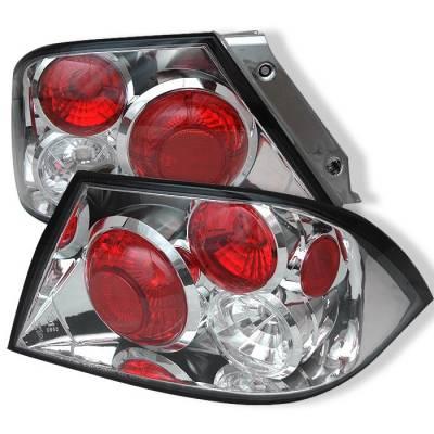 Spyder - Mitsubishi Lancer Spyder Euro Style Taillights - Chrome - 111-ML02-C