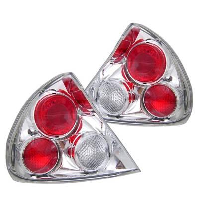 Spyder - Mitsubishi Lancer Spyder Euro Style Taillights - Chrome - 111-ML97-C