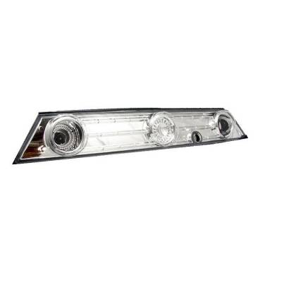Spyder. - Nissan 240SX Spyder Trunk Taillights - Chrome - 111-N240SX89H-TR-C