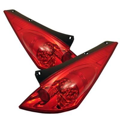 Spyder - Nissan 350Z Spyder LED Taillights - Red Clear - 111-N350Z02-LED-RC