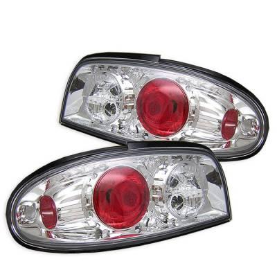 Spyder - Nissan Altima Spyder Euro Style Taillights - Chrome - 111-NA93-C