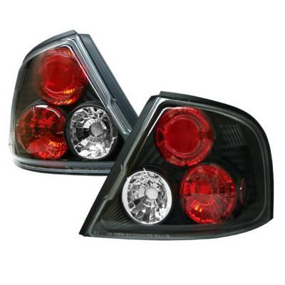 Spyder - Nissan Altima Spyder Euro Style Taillights - Black - 111-NA98-BK