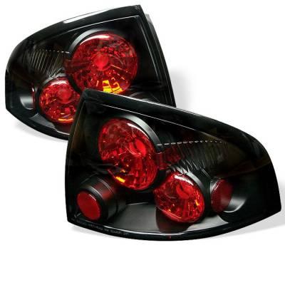 Spyder - Nissan Sentra Spyder Euro Style Taillights - Black - 111-NS00-BK