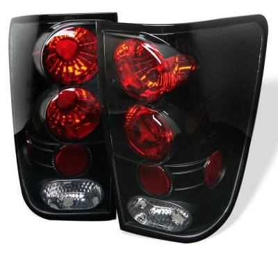 Spyder - Nissan Titan Spyder Euro Style Taillights - Black - 111-NTI04-BK