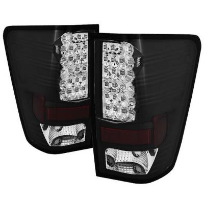 Spyder - Nissan Titan Spyder LED Taillights - Black - 111-NTI04-LED-BK