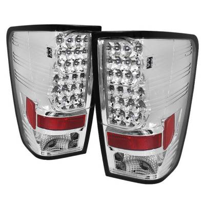 Spyder - Nissan Titan Spyder LED Taillights - Chrome - 111-NTI04-LED-C