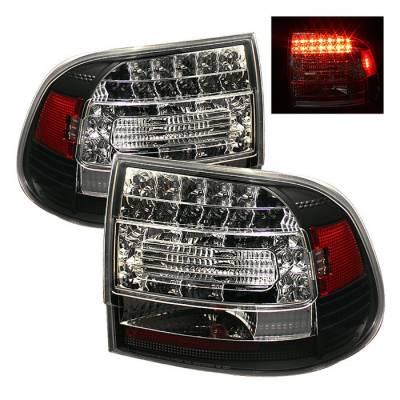 Spyder - Porsche Cayenne Spyder LED Taillights - Black - 111-PCAY03-LED-BK