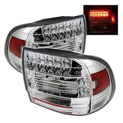 Spyder - Porsche Cayenne Spyder LED Taillights - Chrome - 111-PCAY03-LED-C