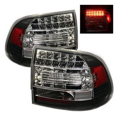 Spyder Auto - Porsche Cayenne Spyder LED Taillights - Black - 111-PGAM99-LED-BK
