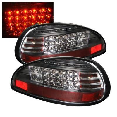 Spyder - Pontiac Grand Prix Spyder LED Taillights - Black - 111-PGP97-LED-BK