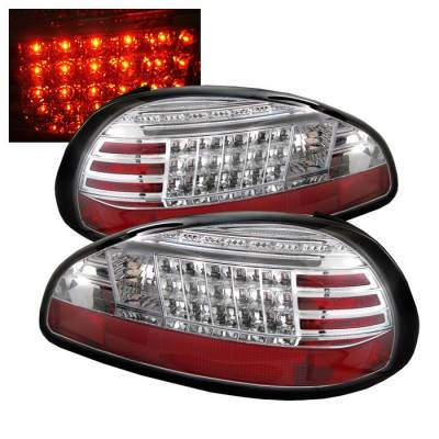 Spyder - Pontiac Grand Prix Spyder LED Taillights - Chrome - 111-PGP97-LED-C