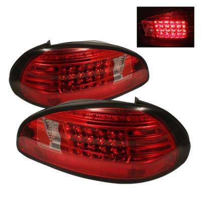 Spyder - Pontiac Grand Prix Spyder LED Taillights - Red Clear - 111-PGP97-LED-RC