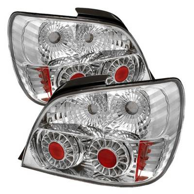 Spyder - Subaru WRX Spyder ED Taillights - Chrome - 111-SI01-LED-C