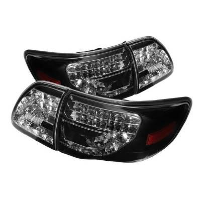 Spyder - Toyota Corolla Spyder LED Taillights - Black - 111-TC09-LED-G2-BK