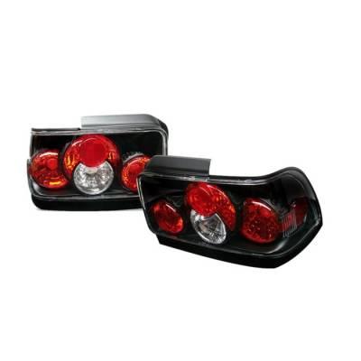 Spyder - Toyota Corolla Spyder Euro Style Taillights - Black - 111-TC93-BK