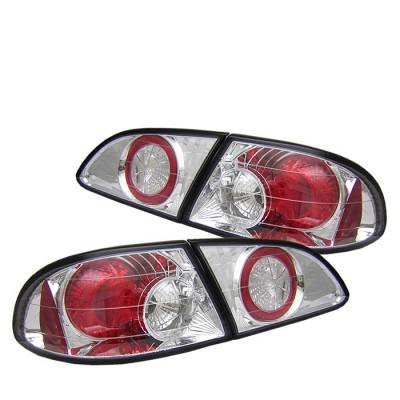 Spyder - Toyota Corolla Spyder Euro Style Taillights - Chrome - 111-TC98-C