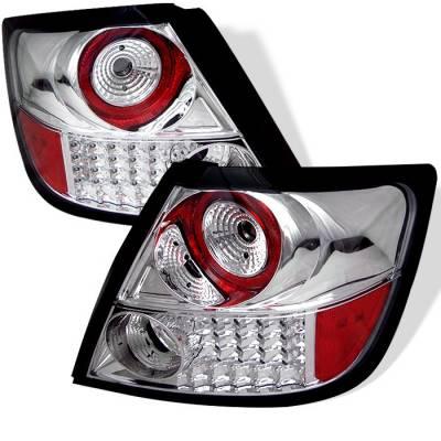 Spyder - Scion tC Spyder LED Taillights - Chrome - 111-TSTC04-LED-C