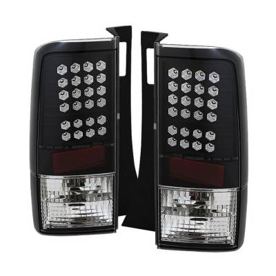 Spyder - Scion xB Spyder LED Taillights - Black - 111-TSXB03-LED-BK
